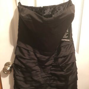 Express new with tags black strapless zip dress
